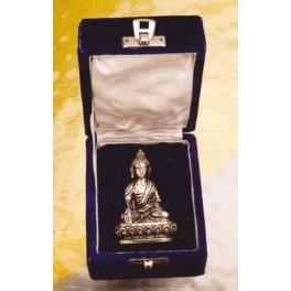 Buddha, versilbert - in Geschenkbox
